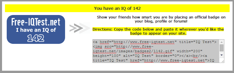 What's Your IQ? (Free-IQTest)   Page 3   Asperger's & Autism